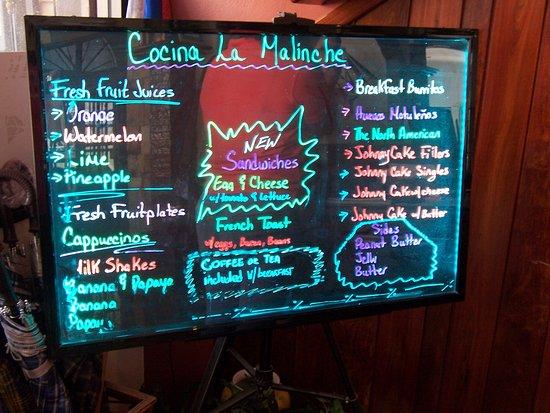 "Hotel de la Fuente : Lots of breakfast choices, but I recommend ""The Belizean"""