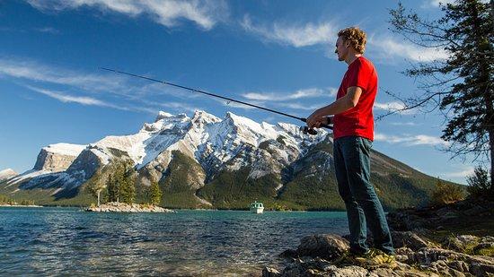 Banff, Canada: Fishing at Lake Minnewanka