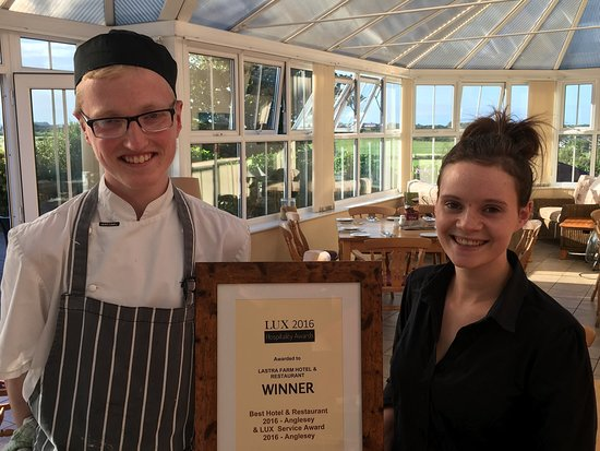 Lastra Farm Hotel & Restaurant: Lastra Farm winner of best hotel & restaurant Anglesey 2016 Lux Hotel Awards