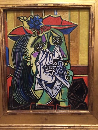 cubism the weeping woman Pablo picasso gallery of paintings and sculptures,  woman with arms crossed,  pablo picasso analytic cubism period of art.