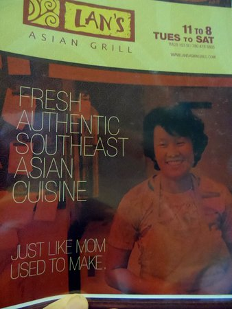 Lan's Asian Grill: Menu
