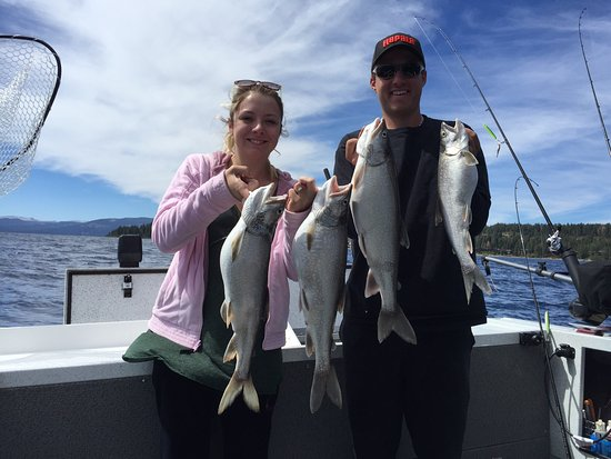 Carnelian Bay, Californien: Mackinaw Fishing Lake Tahoe.  September 2nd 2016.  What a fun day with some friends on board.