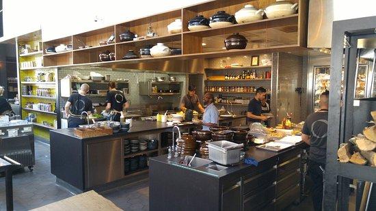 Restaurant Kitchen Areas bar and kitchen areas - picture of otium restaurant, los angeles