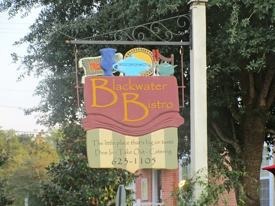 Milton, FL: Blackwater Bistro sign