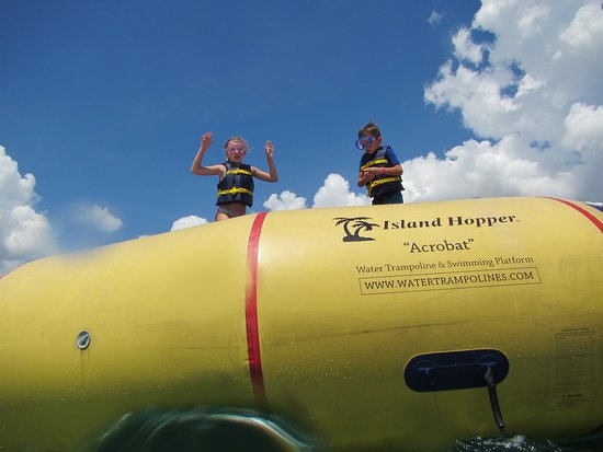Aloha Watersports: My kids had fun bouncing but had no idea how much it cost.