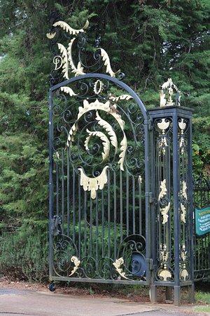Tamborine Mountain Distillery: The fabulously extravagant gates to the property