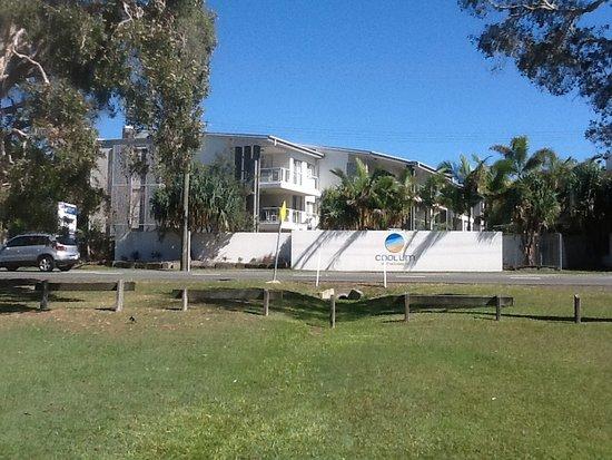 Coolum Beach, Australia: Resort from Beach reserve