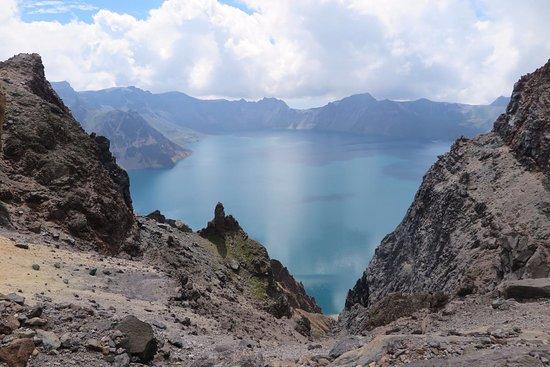 Baishan, China: Crater Lake