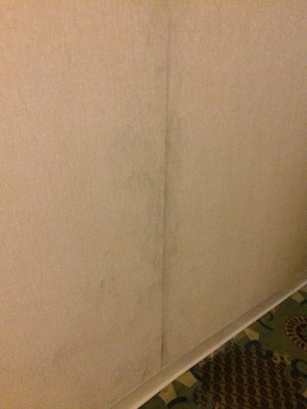 Wyndham Cleveland at Playhouse Square: Dirty, peeling walls in hallway