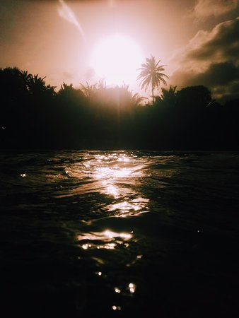 Crochu, Grenada: Sunset swim in the cove
