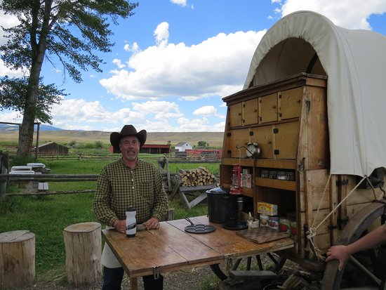 Deer Lodge, MT: Get yourself some authentic cowboy coffee at the chuckwagon!