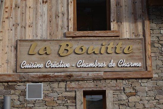 Saint-Martin-de-Belleville, Francia: La Bouitte入口の看板