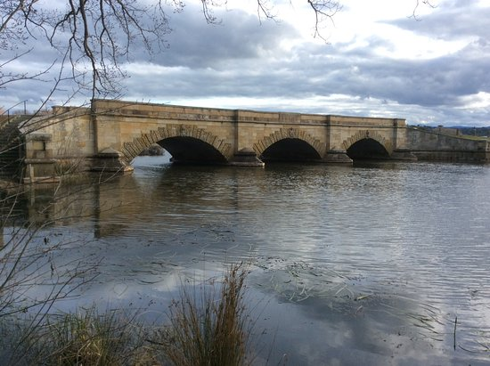 Tasmania, Australia: The Convict bridge at Ross