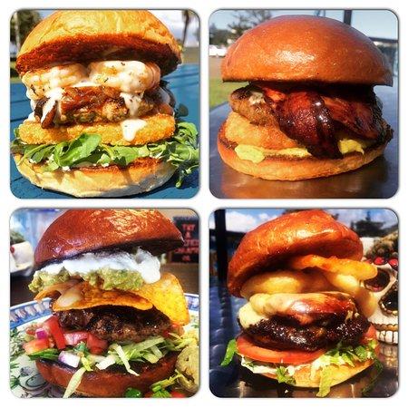 Old Bar, Australien: Burgers Blowfish style !!
