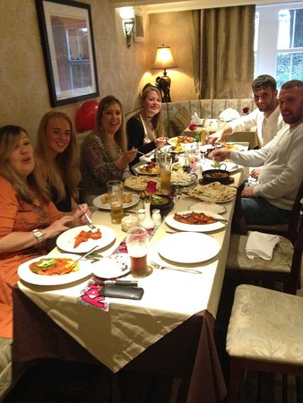 Haslingden, UK: Enjoying the meal