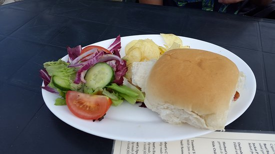 Tissington, UK: Bacon roll