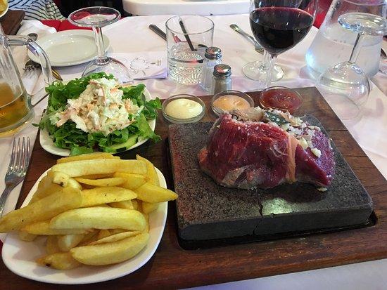 Solar Da Ajuda: Great fillet steak on a stone