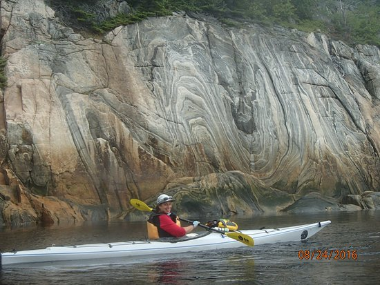 Orrs Island, ME: Beautiful cliffs along the Saguenay Fjord
