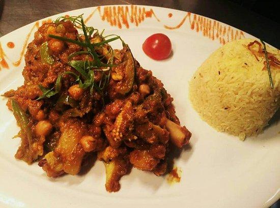 Princes Risborough, UK: chola and rice