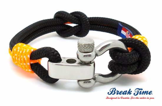 Break Time Nautical Bracelets Waterproof Handmade Marine Rope Armband