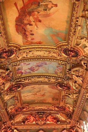 Paris h tel de ville salle des f tes plafond libert figures all goriques armoiries de pari - Hotel miroir plafond paris ...