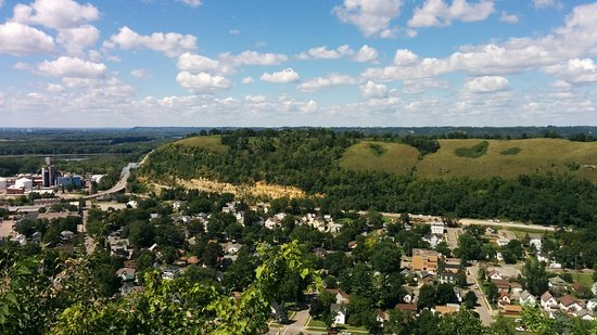 Red Wing, MN: Barn's Bluff seen from Sorin's Bluff