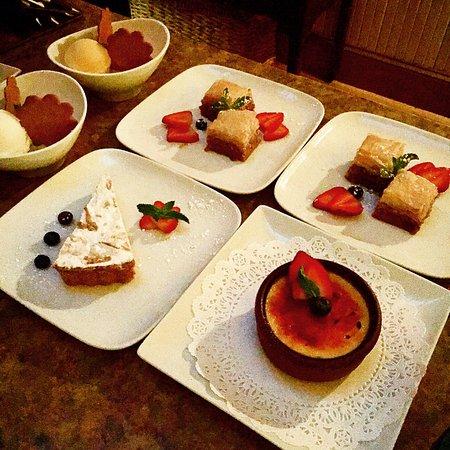 Wellesley, MA: Desserts- baklava, creme brûlée, sorbet...