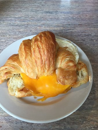 Acton, MA: Delicious breakfast on a homemade croissant..