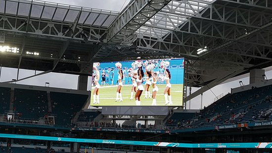 Beautiful View From Hard Rock Stadium As The Sun Is
