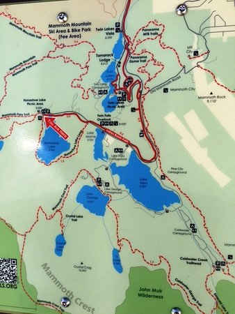 Mammoth Lakes Map Mammoth Lakes Basin Map   Picture of Horseshoe Lake, Mammoth Lakes