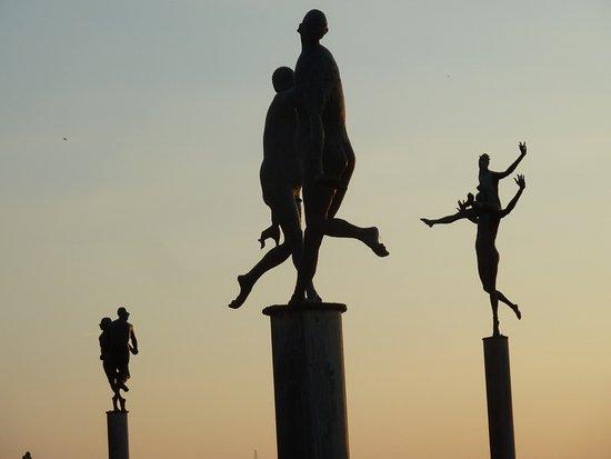 Weinstadt, Tyskland: Ensemble der Skulpturen