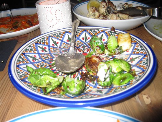 Byblos: Halloumi and brussell sprouts yum!