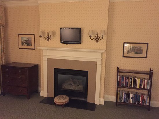 Washington, CT: TV in bedroom of the 2nd largest suite on the property. $1,600/nite.