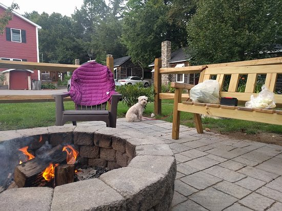 Pemi Cabins: View from one of the fire pits.