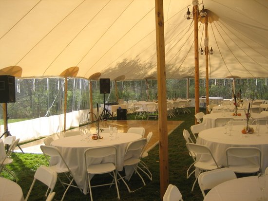 Wedding Tent at Featherbed Inn