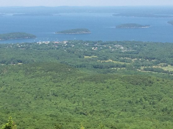 The Bayview: View of Bar Harbor from top of Caddillac Mt in Acadia National Park
