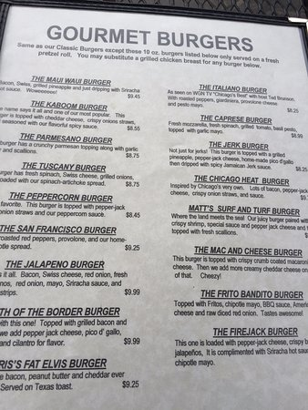 Cary, IL: Menu prices