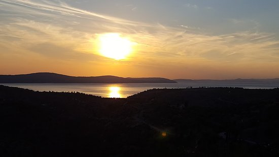 Bobovisca, Croatia: Sunset from the terrace