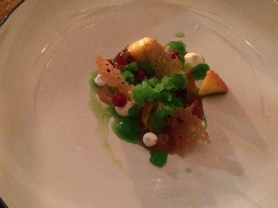 Risskov, Denmark: 3 of our 4 courses, so many flavours, immaculately presented