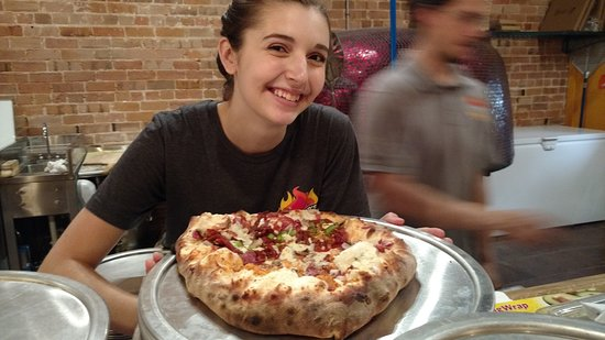 Dickson, TN: Addie proud of her pizza