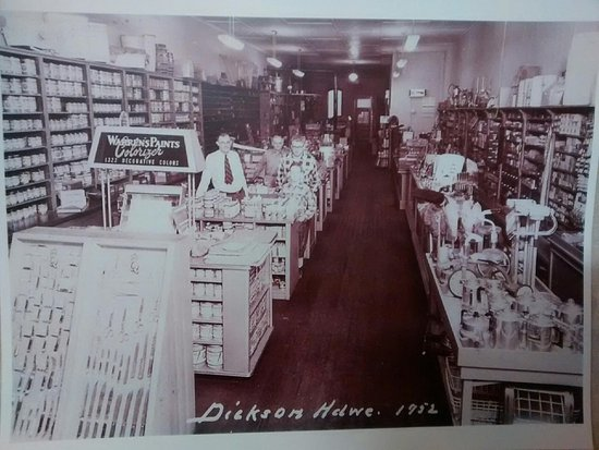 This is what the building used to be, Dickson Hardware
