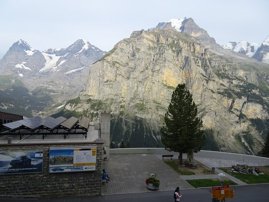 Hotel Eiger Restaurant : View from the terrace