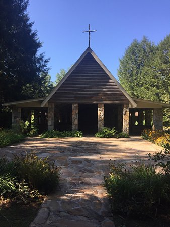 We found this beautiful open chapel yesterday. Unfortunately we left Cedar Mountain today and co