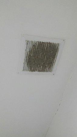 Apartamentos Turisticos Canos de Meca: Rejilla que esta encima de la bañera