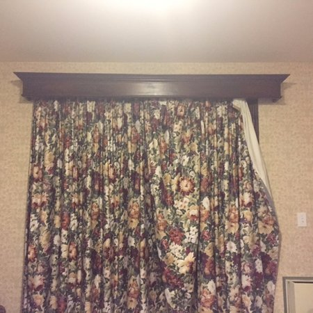 Severn Bridge, Canada: nothing matched curtains looked like this when we entered the room.