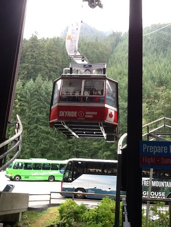 North Vancouver, Canadá: Gondola arriving.