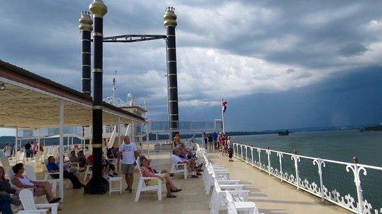 Showboat Branson Belle: The top floor, observation deck.