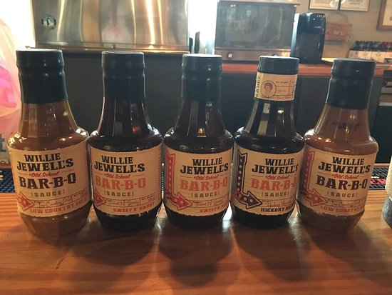 Willie Jewell's: Full line of bbq sauces