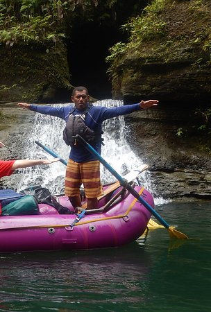 Rivers Fiji - Day Adventures: Our fearless, always serious river guid Moses! Wananavu!