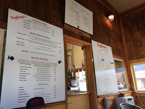 Curlew, WA: Basic comfort food menu. Something for everyone.
